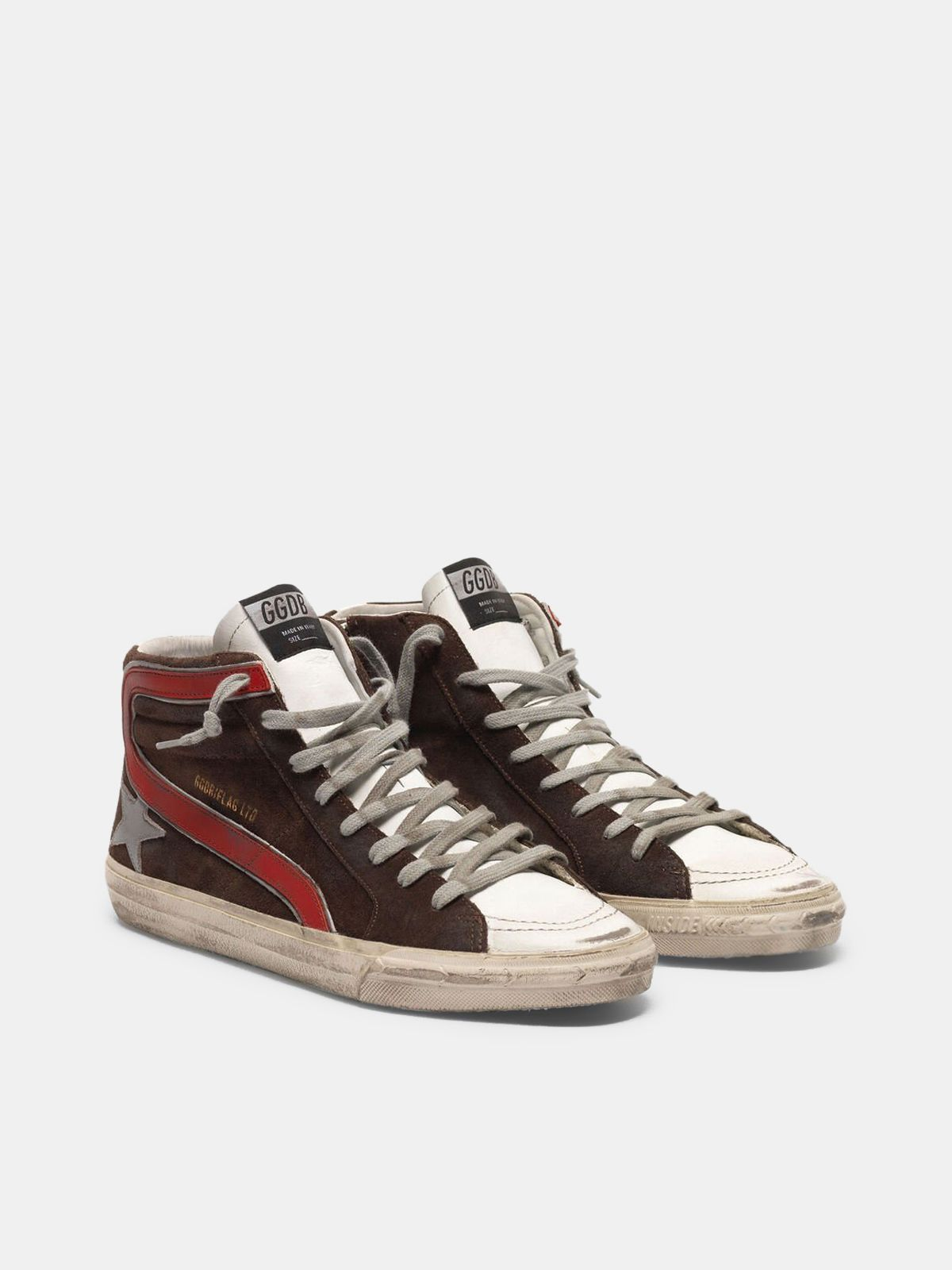 Golden Goose - Slide sneakers in suede with silver star in