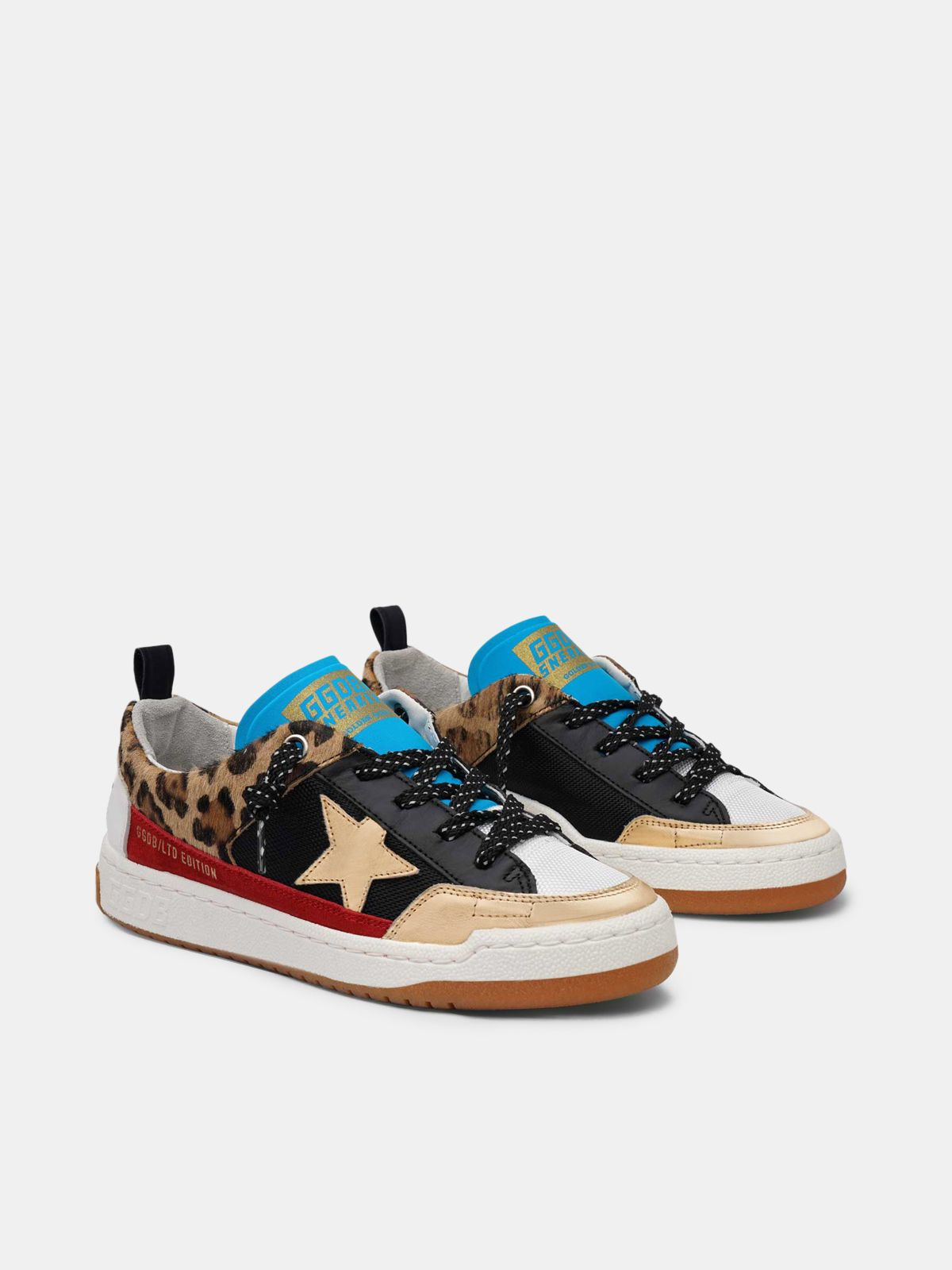 Golden Goose - Yeah! sneakers in leopard-print with gold star in