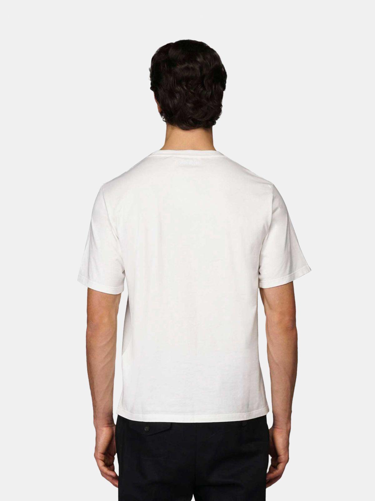 Golden Goose - T-shirt Golden blanc avec broderie «Love» in