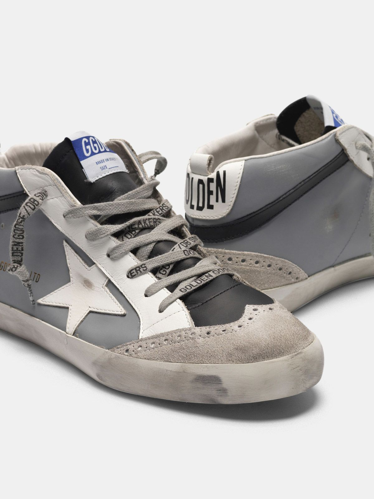 Golden Goose - Mid Star sneakers in leather with suede toecap in