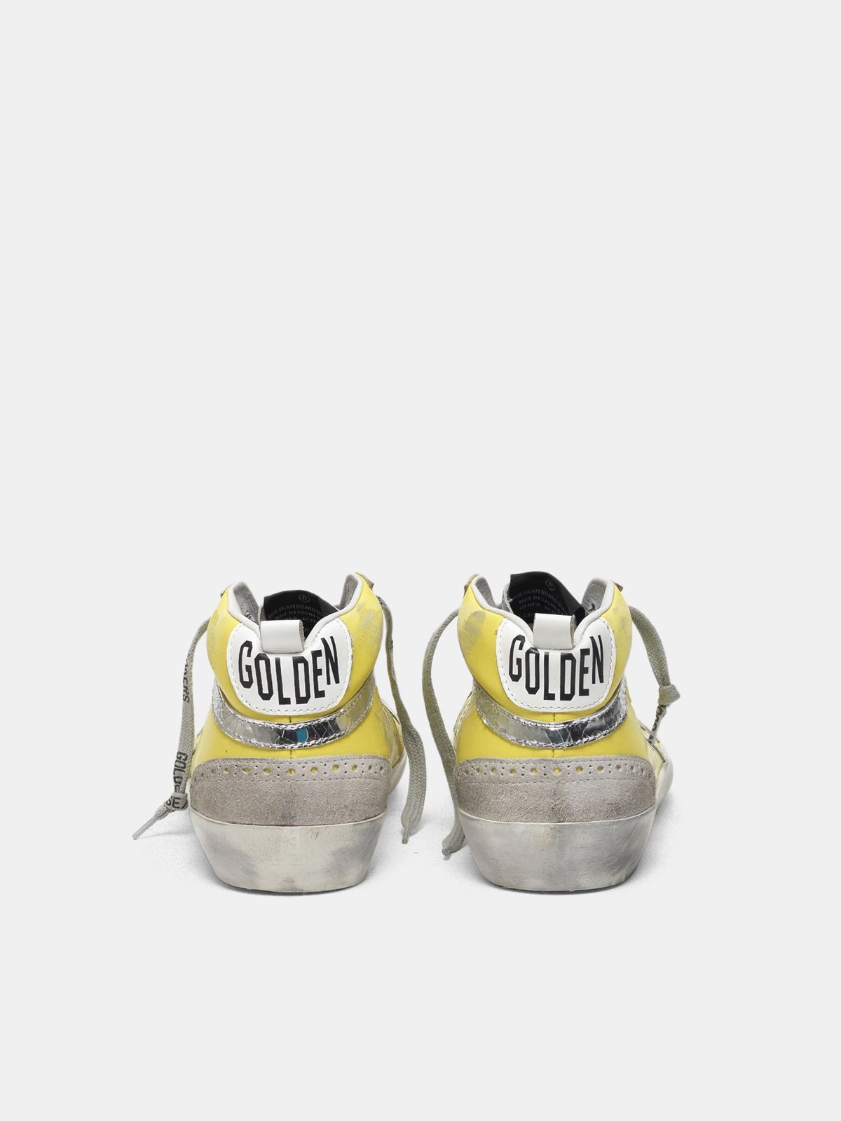 Golden Goose - Mid Star sneakers with suede inserts and crackle details in