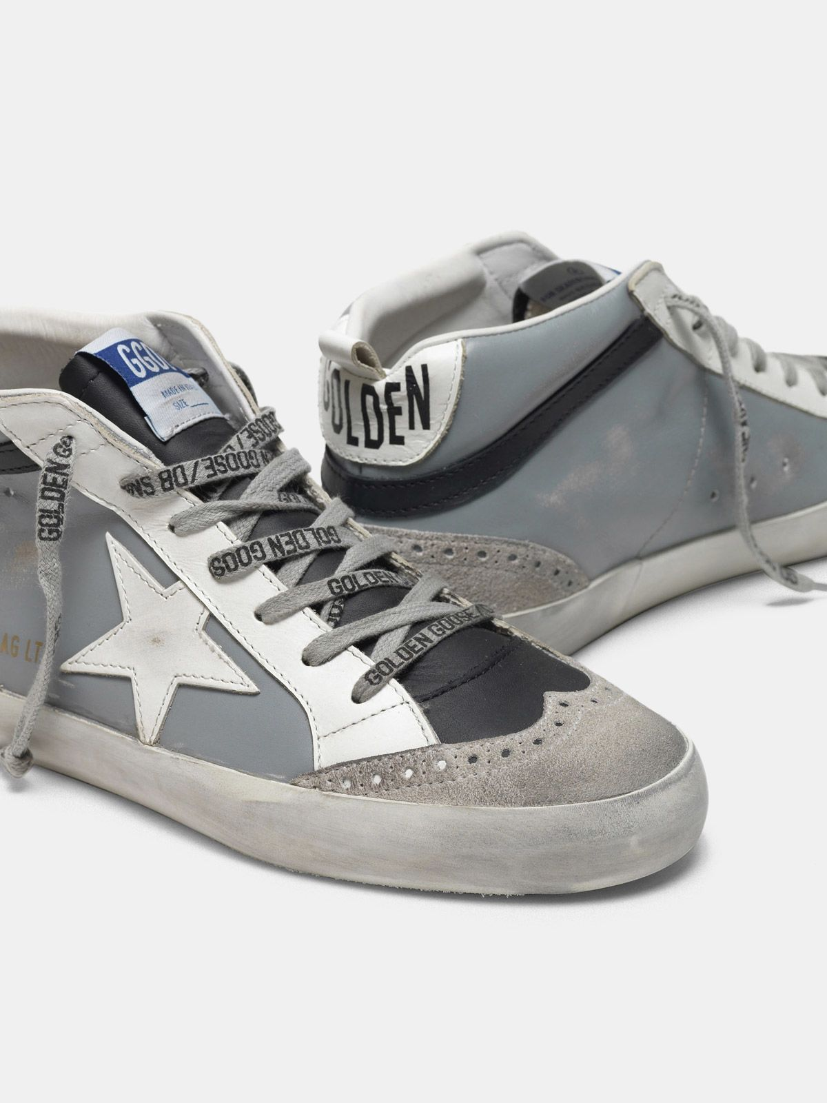 Golden Goose - Mid Star sneakers with star in leather in