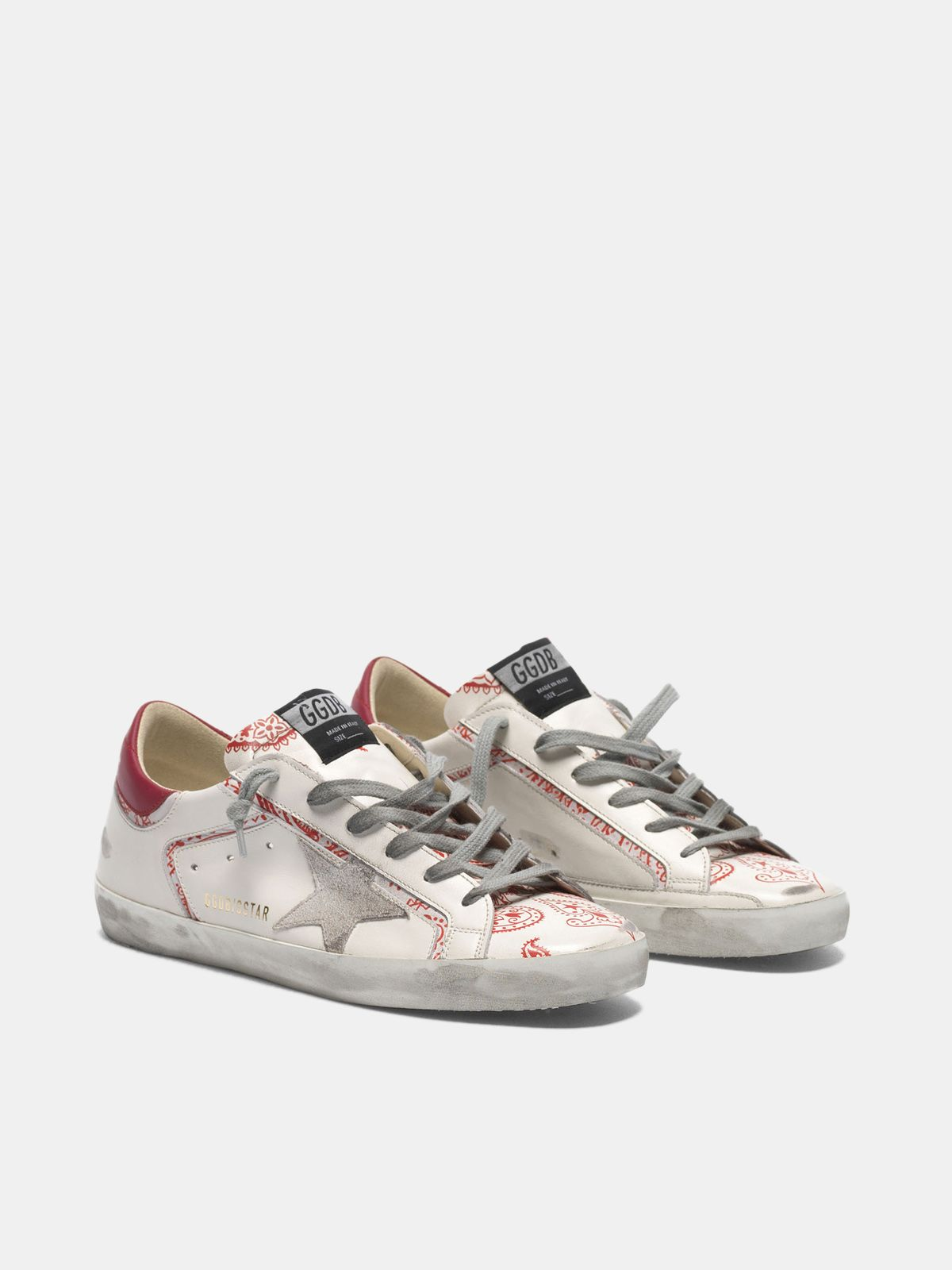 Golden Goose - Sneakers Super-Star con stampa bandana in