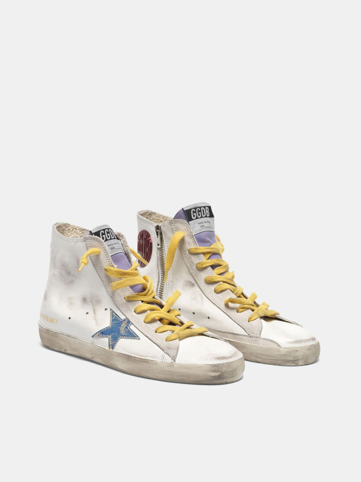 Golden Goose - Francy sneakers with iridescent star and glittery bands in