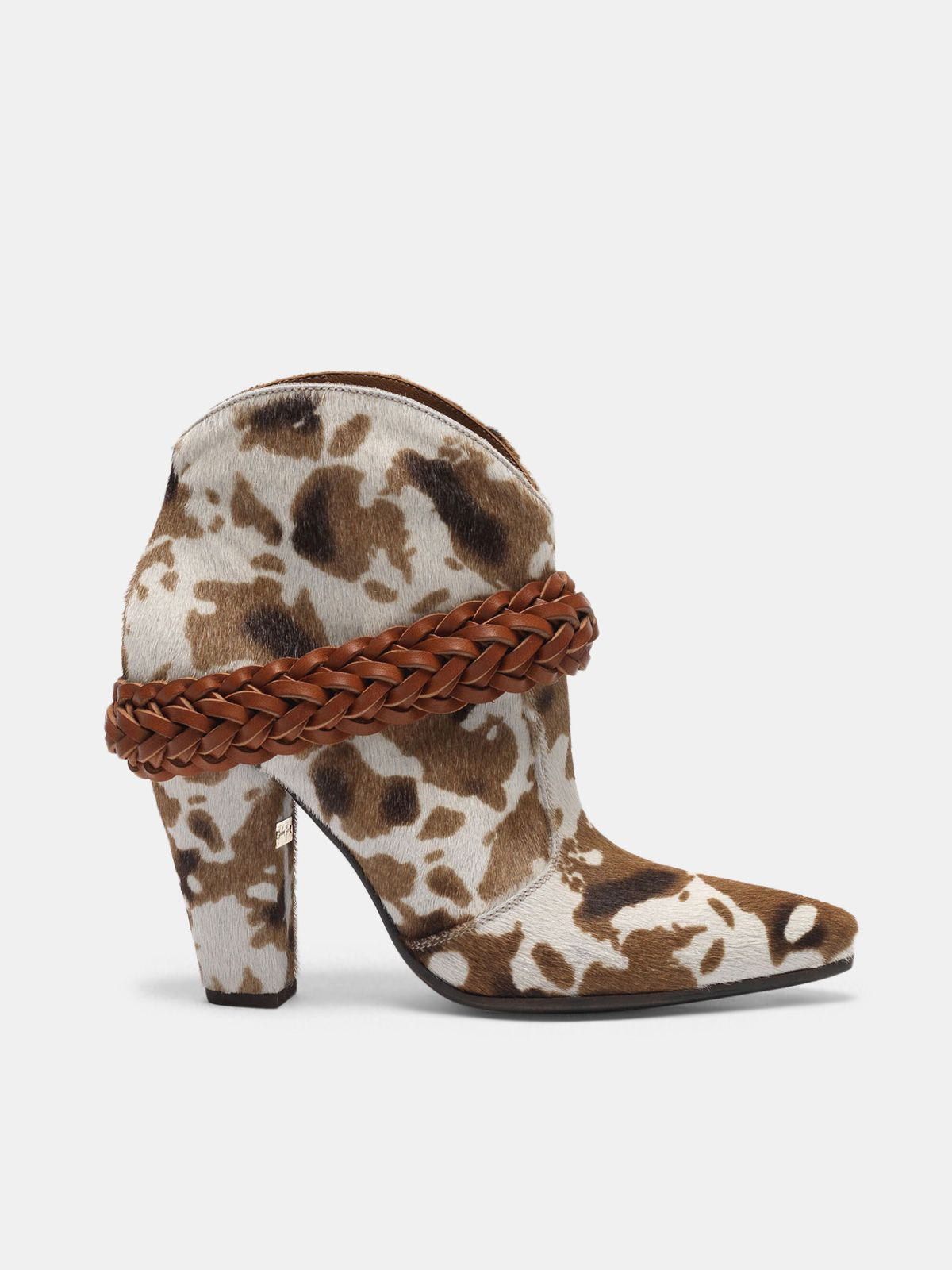 Golden Goose - Low cow-print Michelle ankle boots in