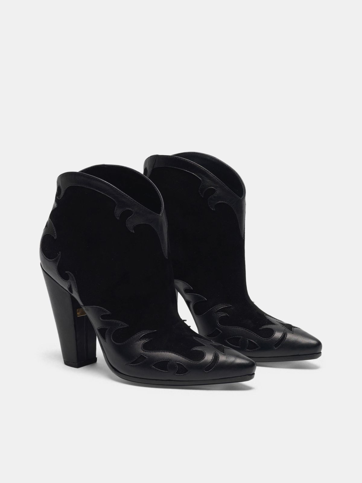 Golden Goose - Low black Michelle Flowers ankle boots in