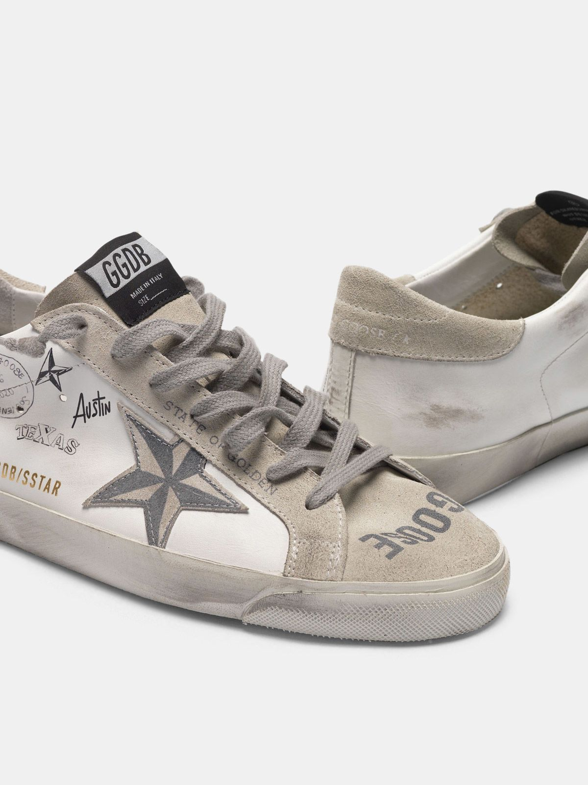 Golden Goose - Super-Star sneakers with Texas graffiti in