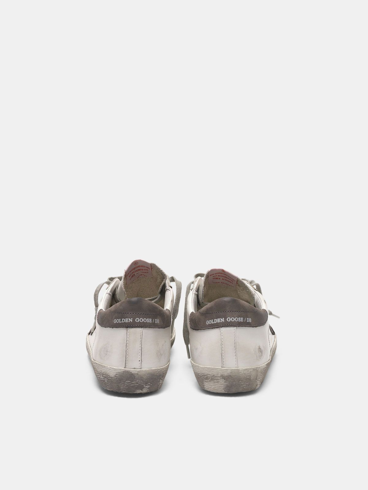 Golden Goose - Super-Star sneakers in leather with star and heel tab in nubuck in