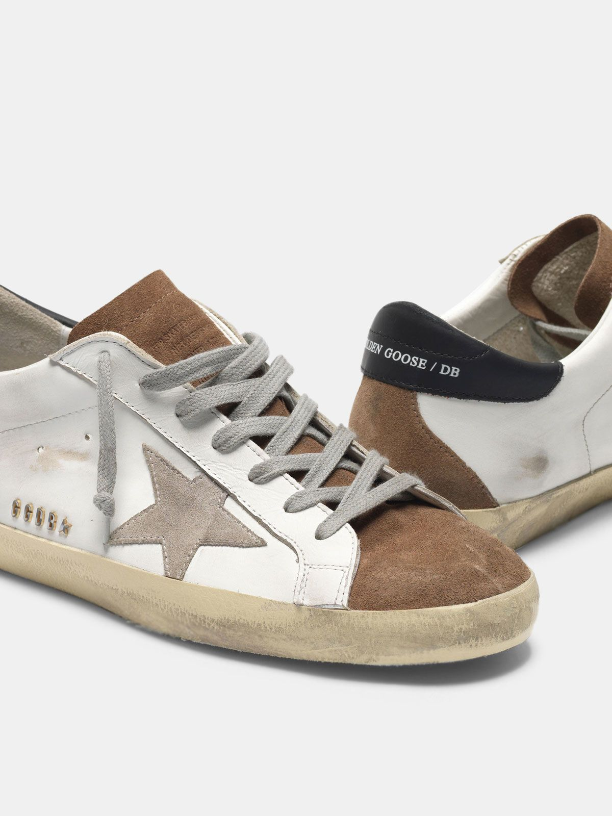 Golden Goose - Super-Star sneakers in leather with suede insert in