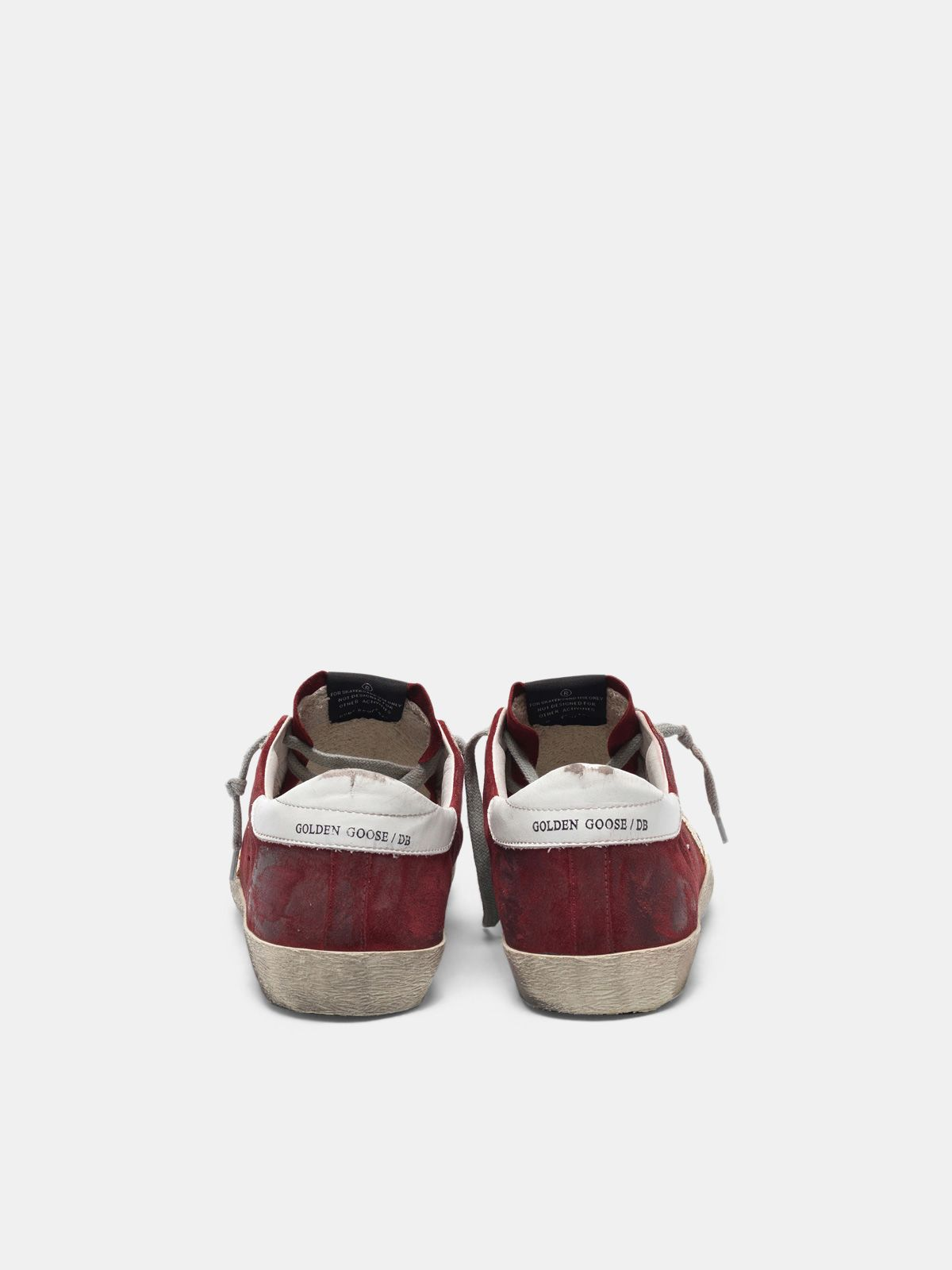 Golden Goose - Super-Star sneakers in suede leather with crackle star in