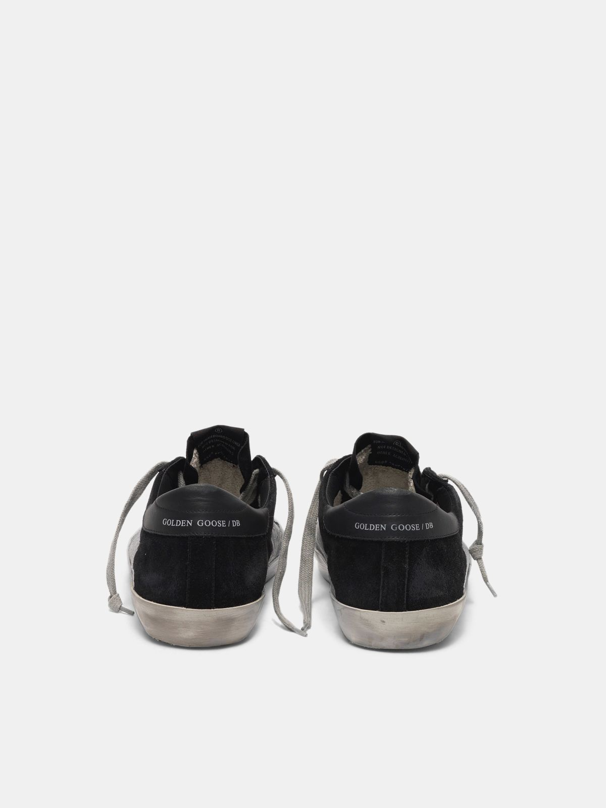 Golden Goose - Super-Star sneakers worked with a crackle effect varnish in