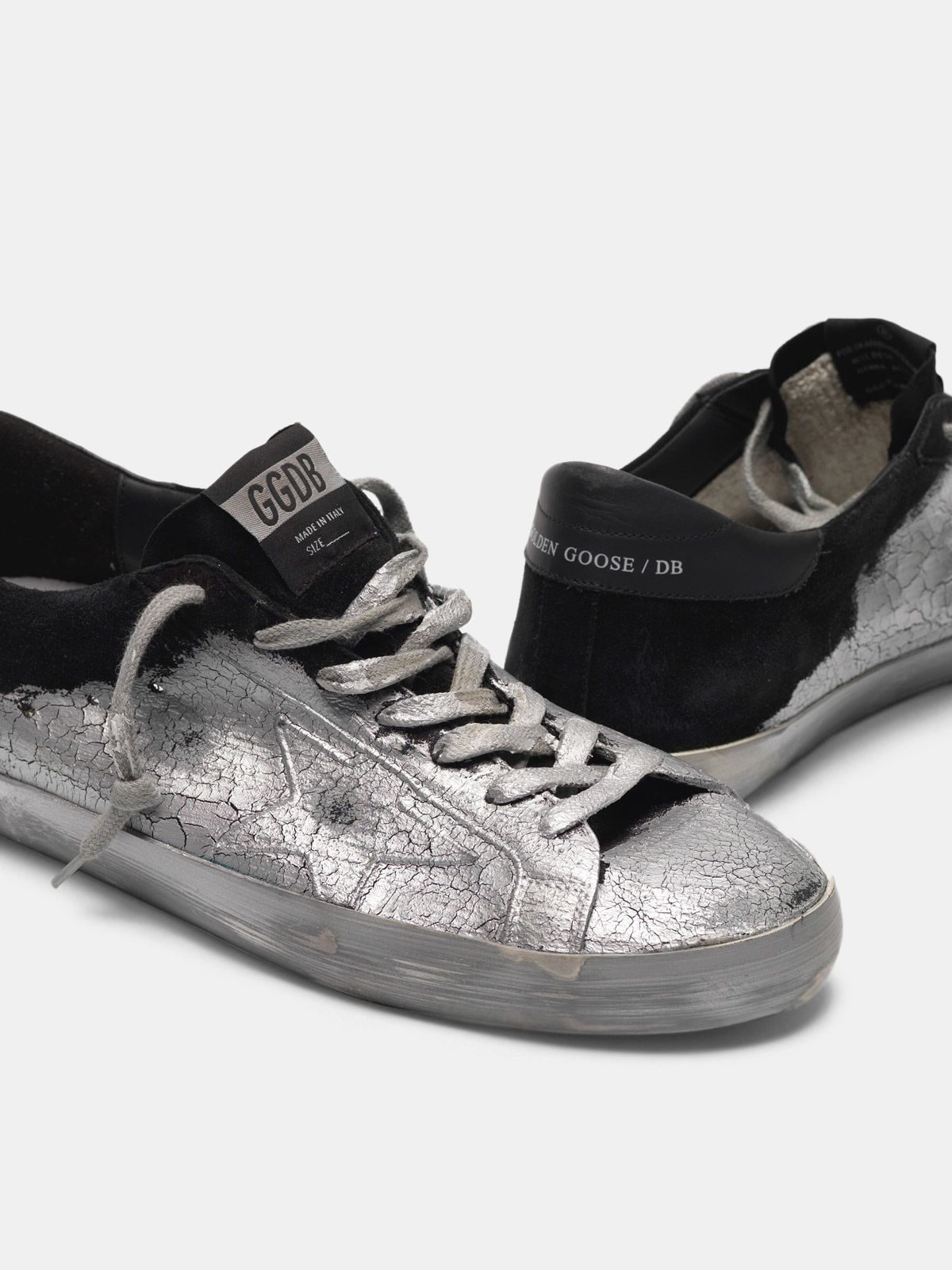 Golden Goose - Sneakers Super-Star lavorate con vernice effetto cracklé in