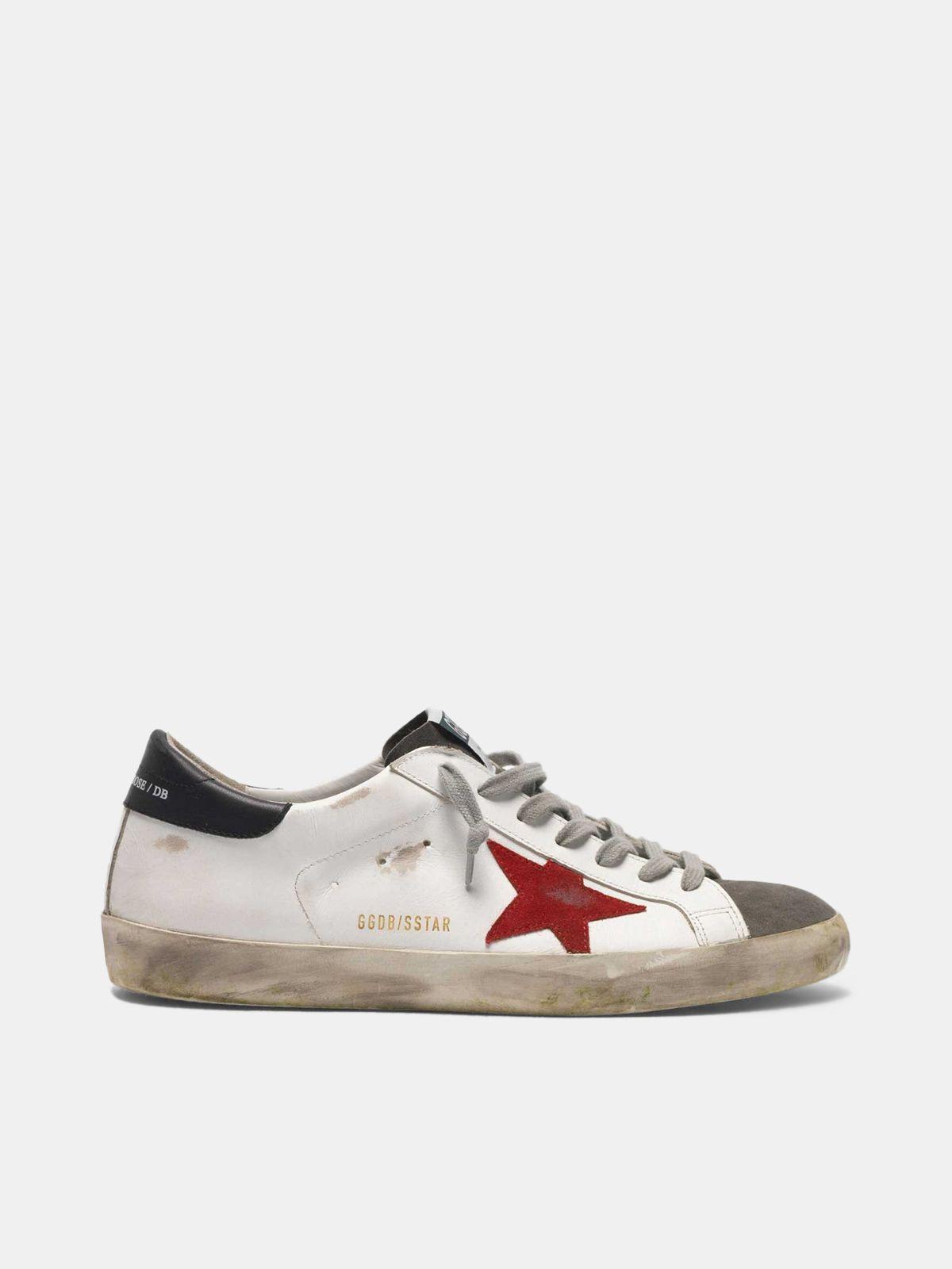 Sneakers Super-Star in pelle con inserto e stella in suede
