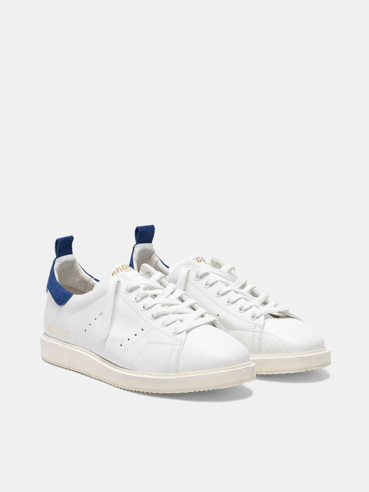 Golden Goose - Starter sneakers in leather with suede heel tab in