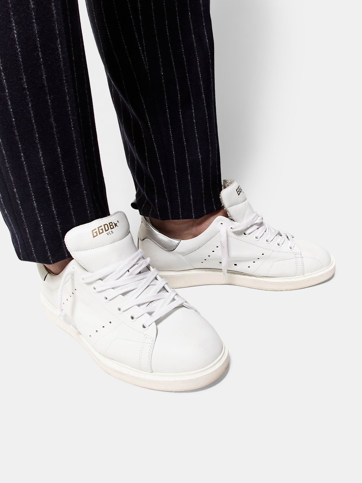 Golden Goose - Sneakers Starter in pelle con talloncino metallizzato in