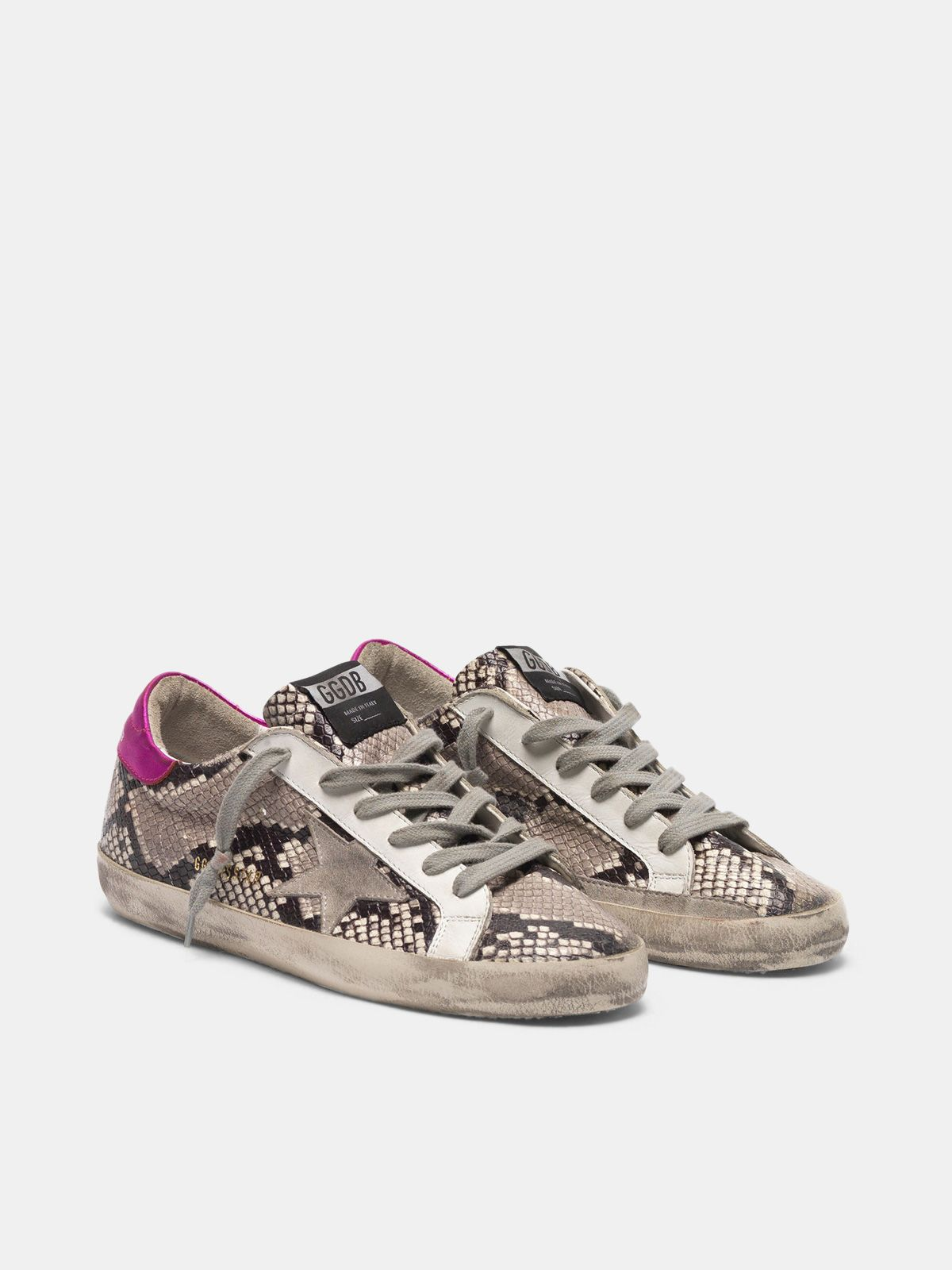 Golden Goose - Super-Star sneakers in python-print leather   in
