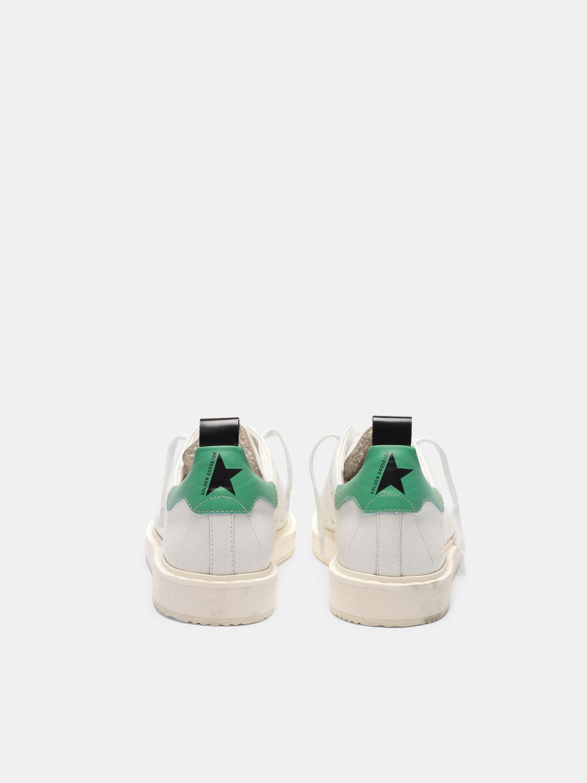 Golden Goose - Sneakers Starter in pelle con talloncino verde in