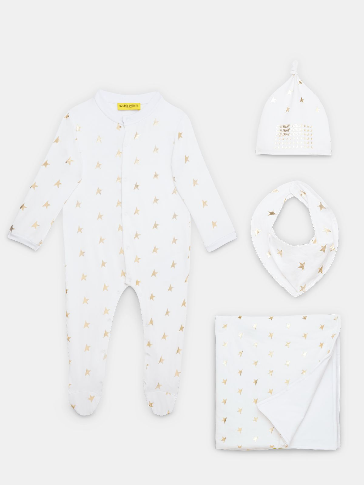 Golden Goose - Babies' gift set with gold stars in