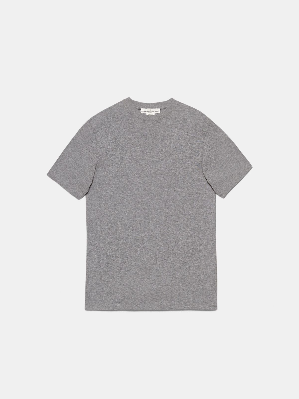 Golden Goose - Grey Golden T-shirt with Sneakers Lovers print in