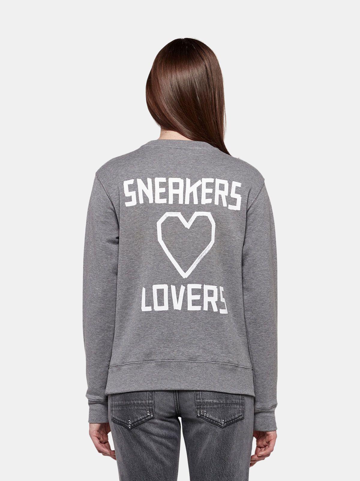 Golden Goose - Grey Higanbana sweatshirt with Sneakers Lovers print on the back in