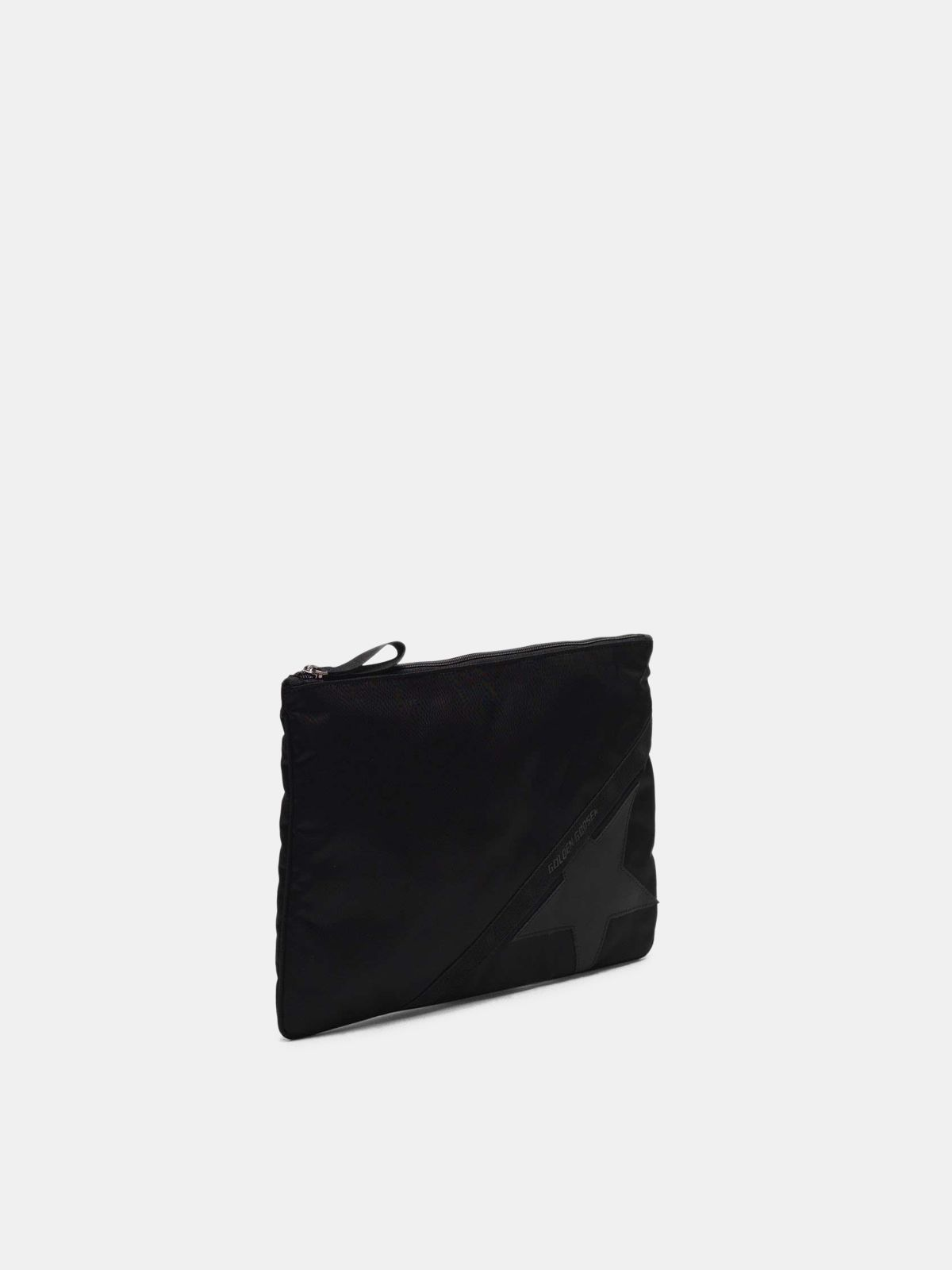 Golden Goose - Large black nylon Journey pouch in