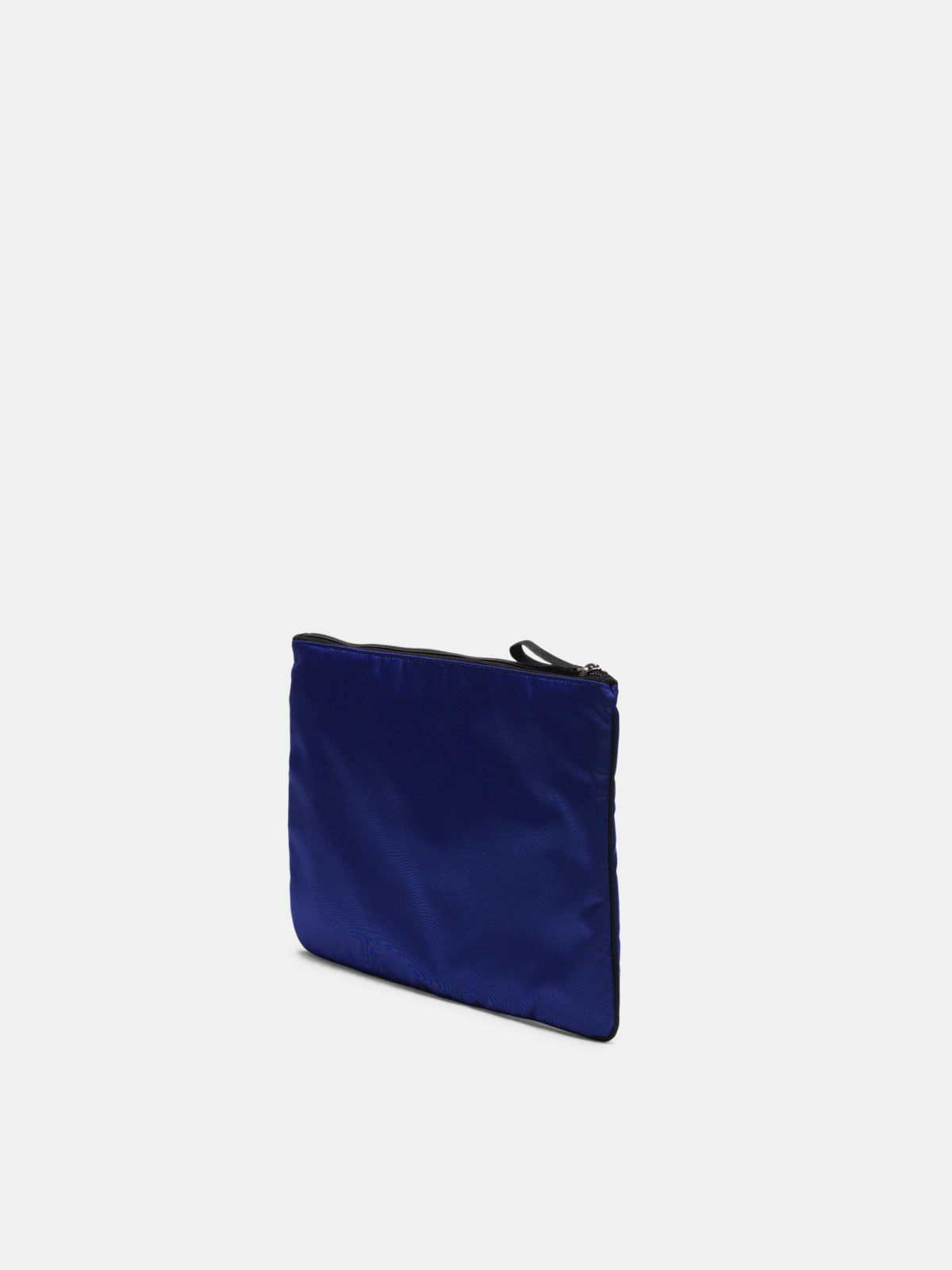 Golden Goose - Large royal blue nylon Journey pouch in