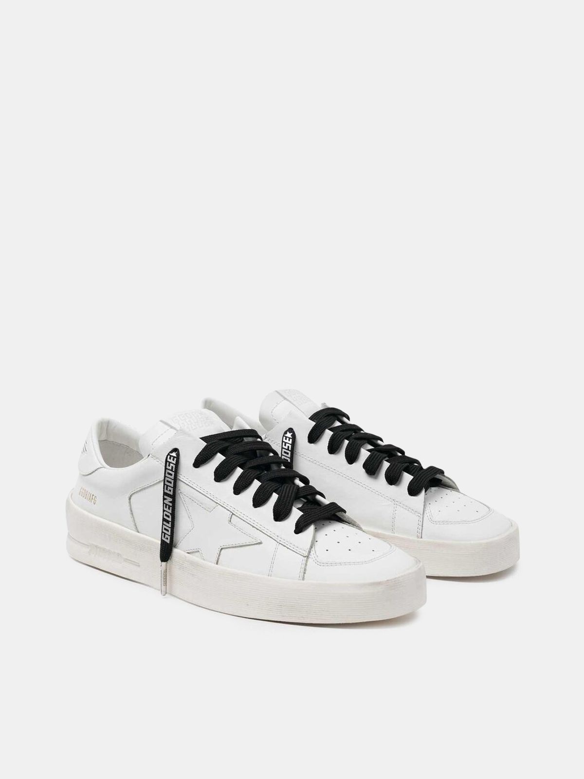 Golden Goose - Men's black laces with reflective logo in