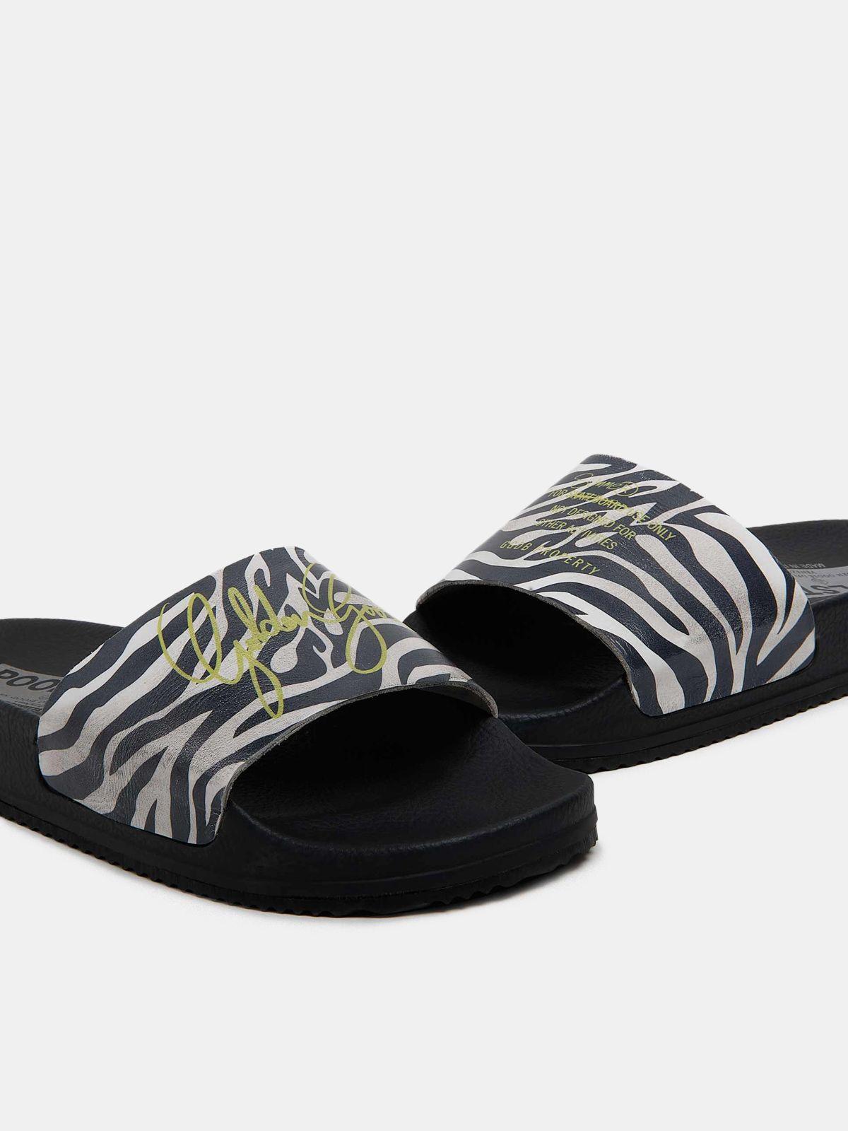 Golden Goose - Women's Poolstars with zebra-pattern strap in