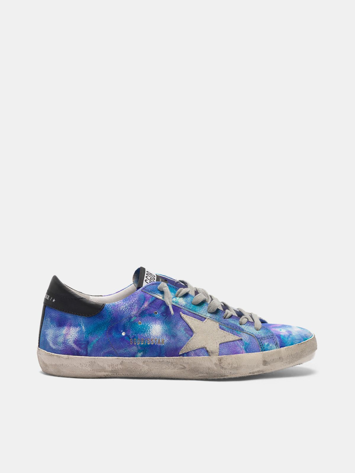Super-Star sneakers in tie-dye leather