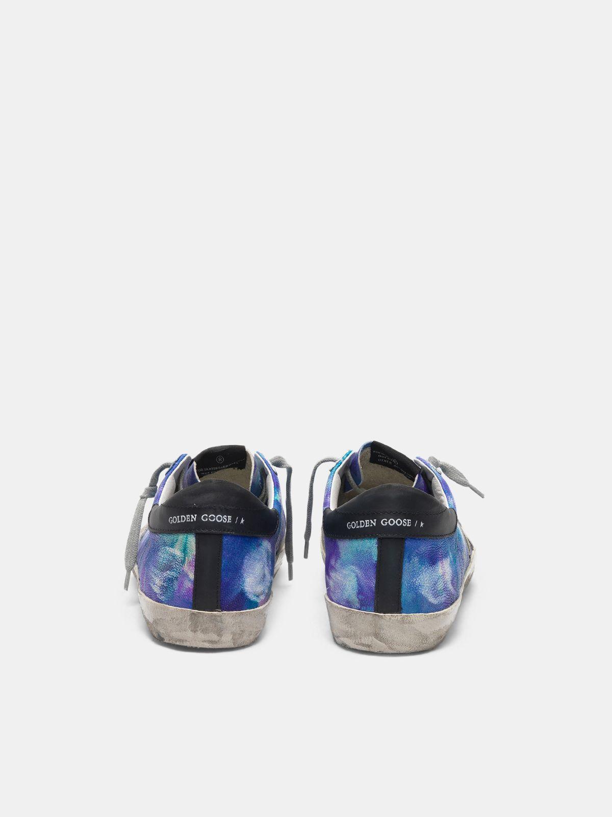 Golden Goose - Super-Star sneakers in tie-dye leather   in