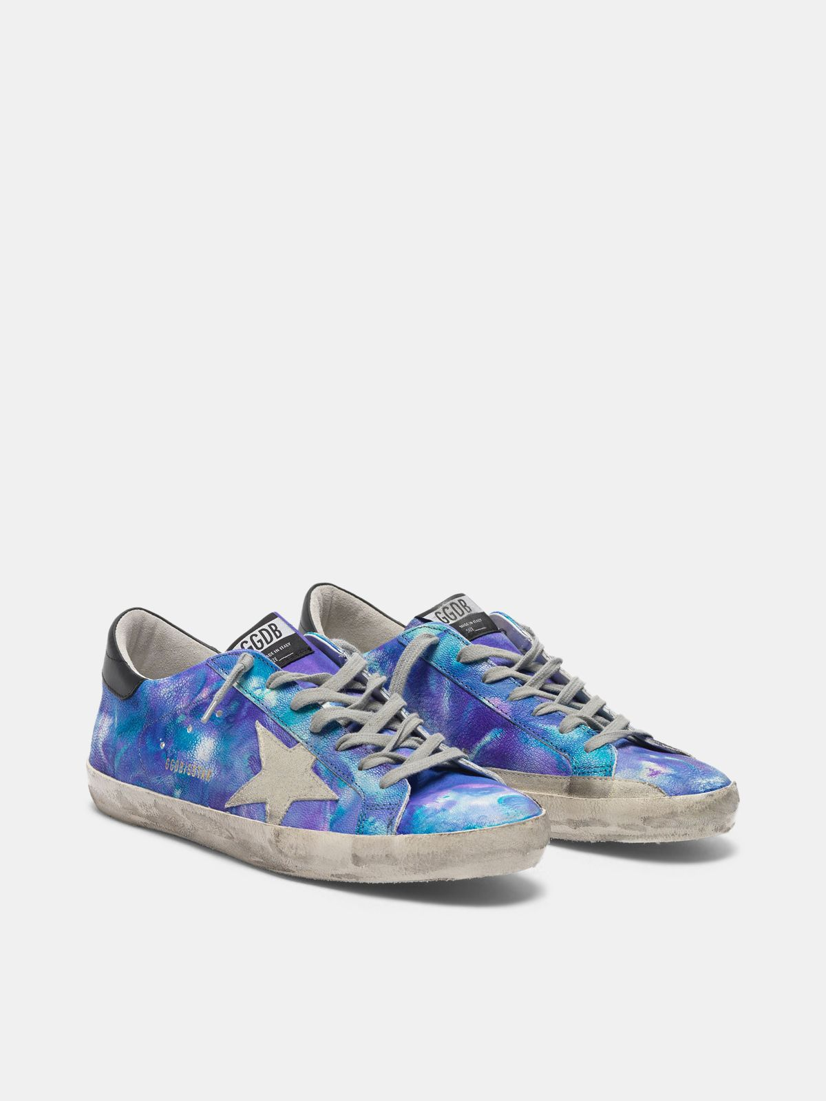 Golden Goose - Super-Star sneakers in tie-dye leather   in