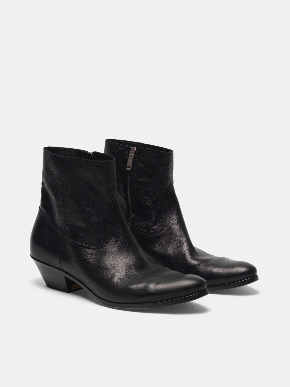Golden Goose - Younger ankle boots in black leather in