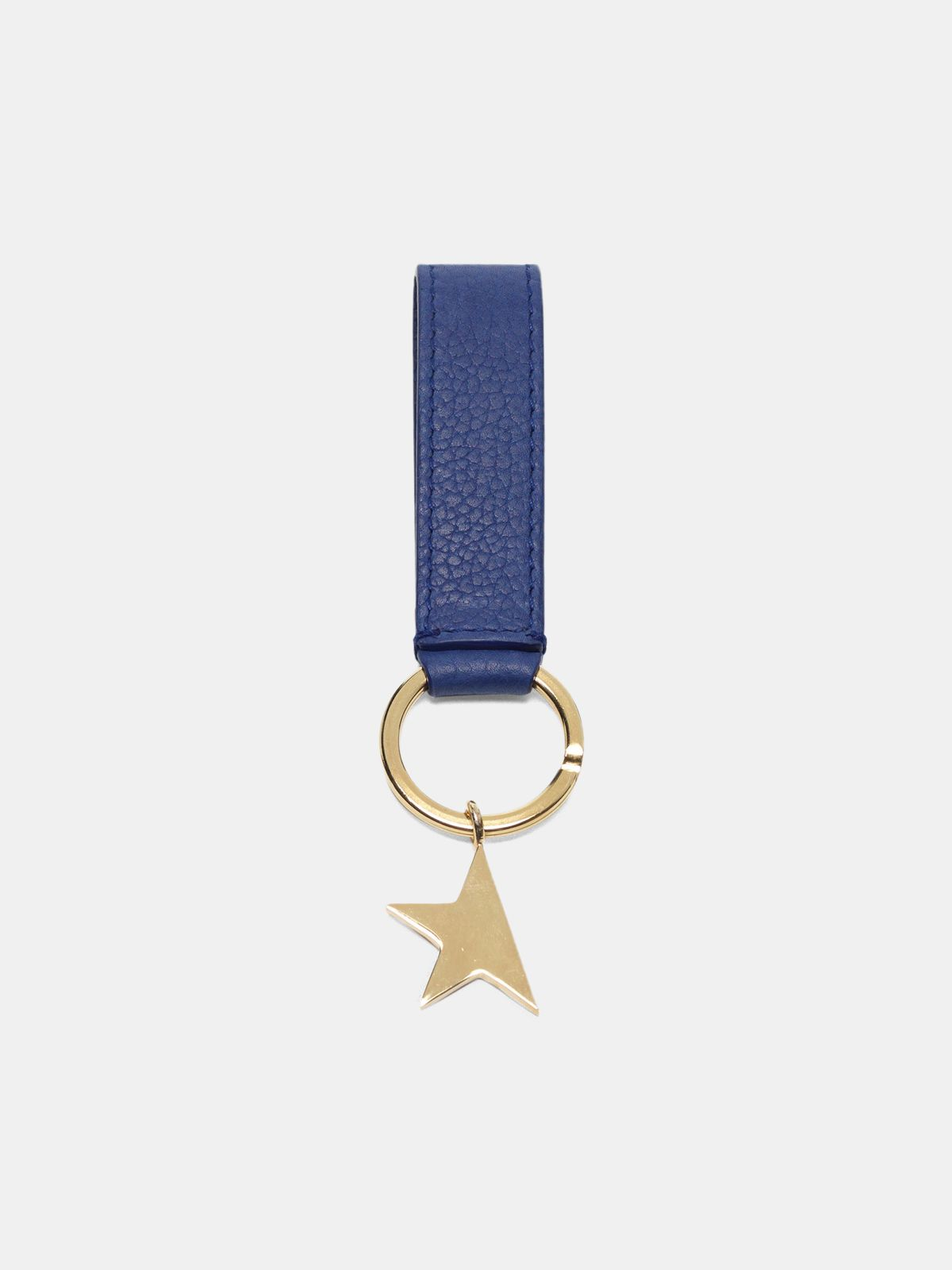 Golden Goose - Blue Star Keyring with silver pendant in