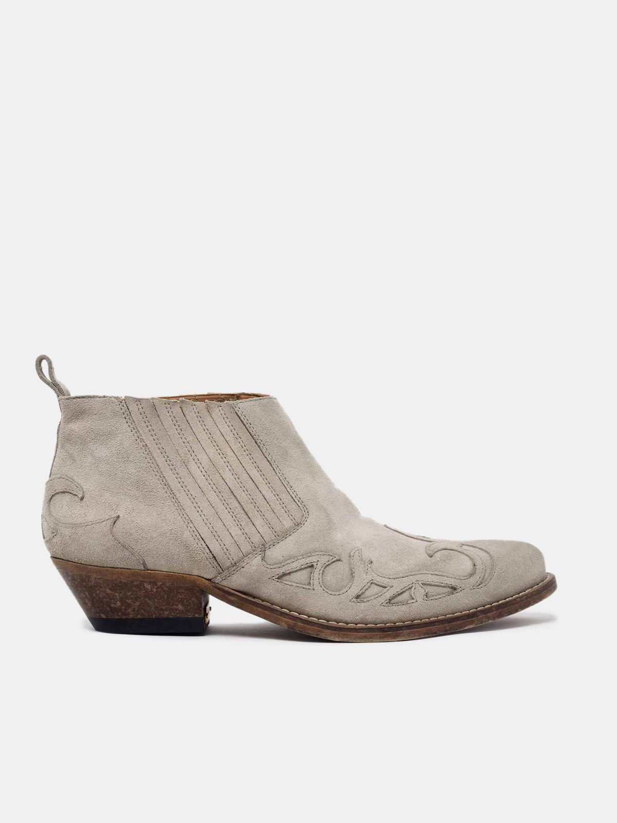 Golden Goose - Santiago Low ankle boots in suede leather in