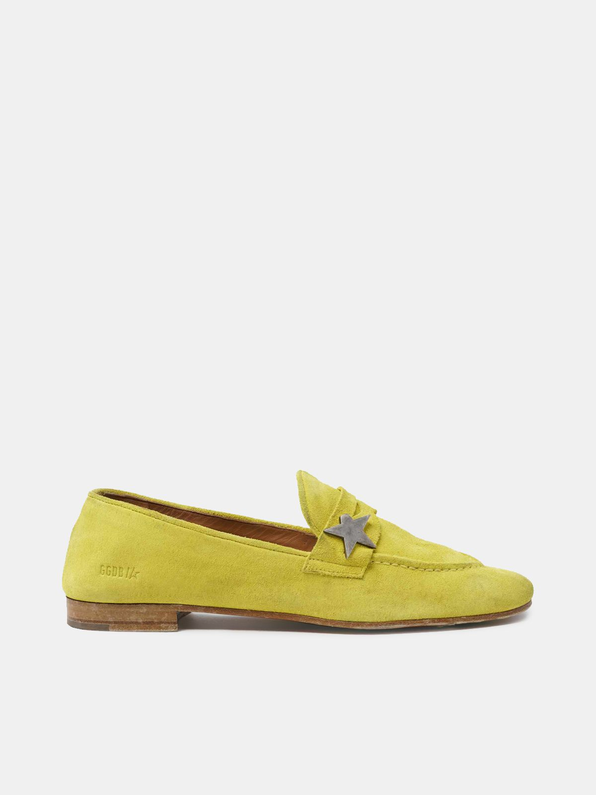 Virginia loafers in yellow suede leather