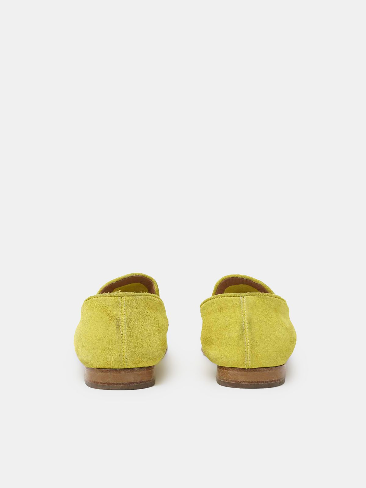 Golden Goose - Virginia loafers in yellow suede leather in