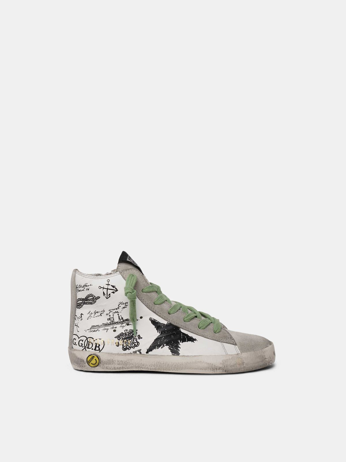 Golden Goose - Francy sneakers with tattoo print in