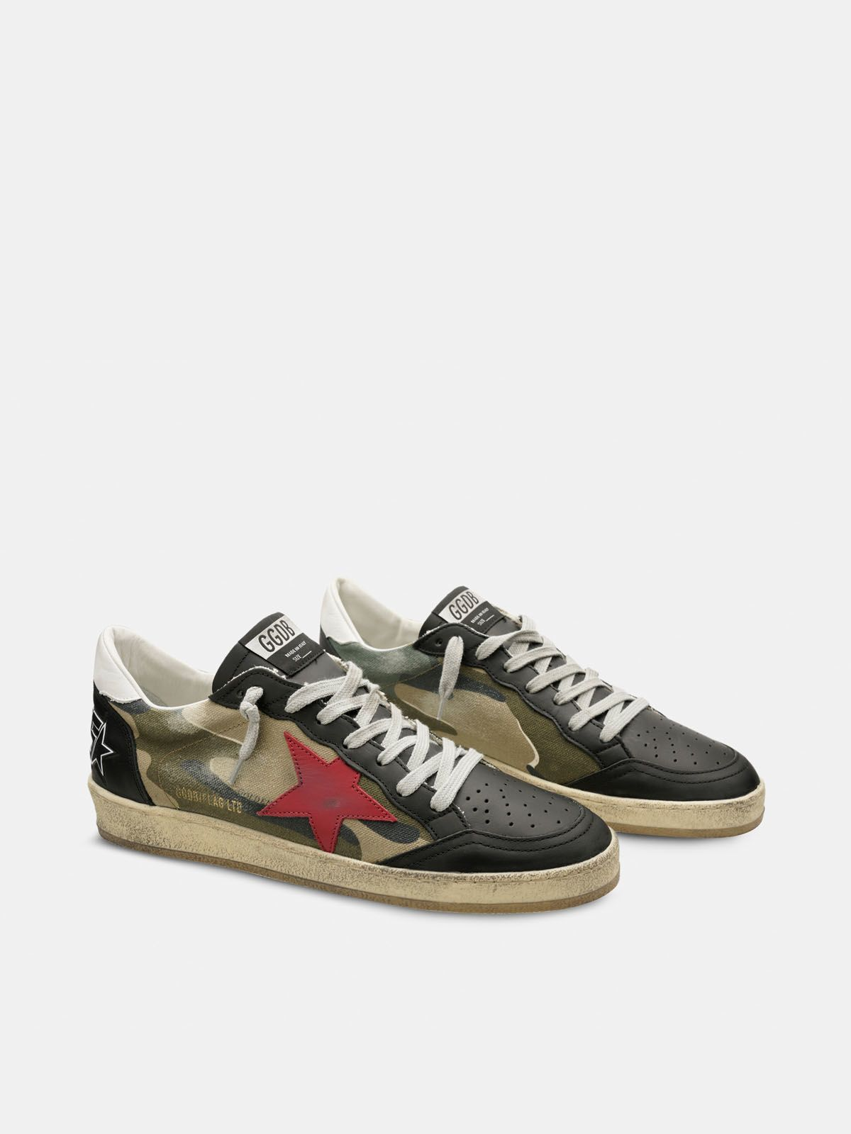 Golden Goose - Sneakers Ball Star con stampa camouflage in