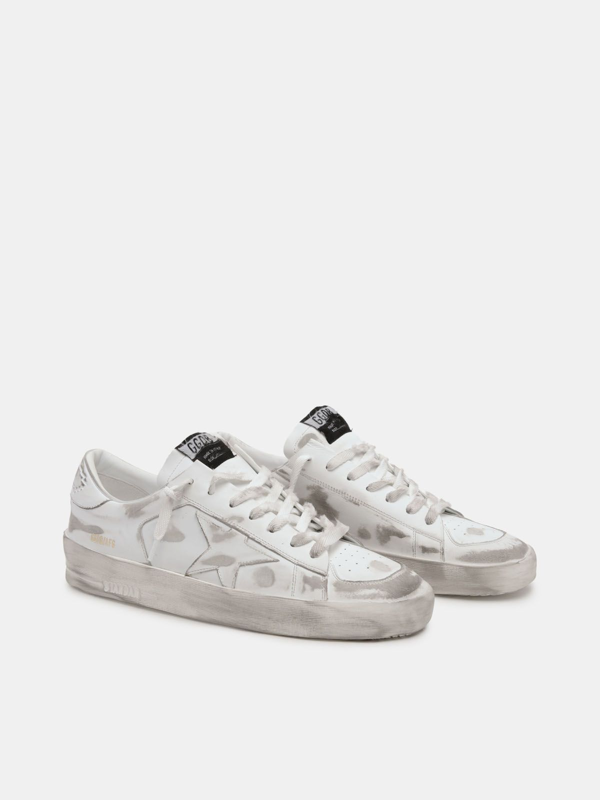 Golden Goose - Stardan sneakers in white leather with lived-in treatment in
