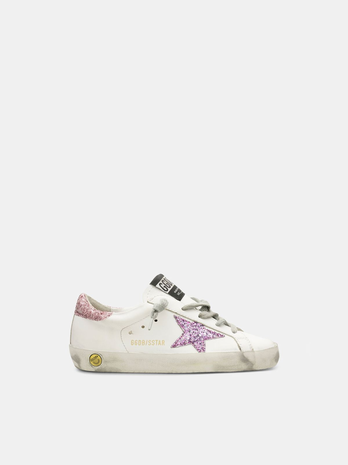 Golden Goose - Super-Star sneakers with glitter star and heel tab in