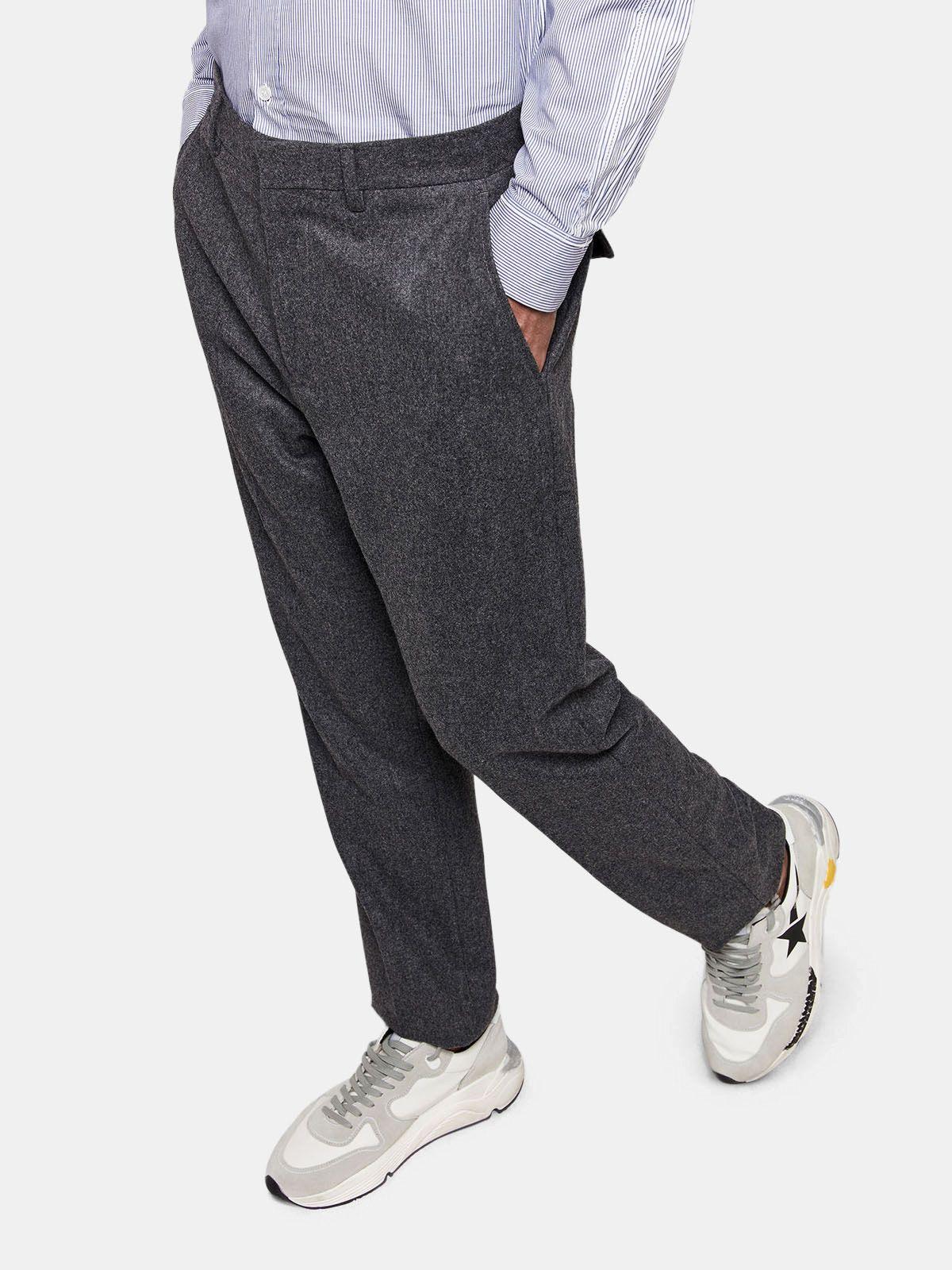 Golden Goose - Golden trousers in virgin wool in