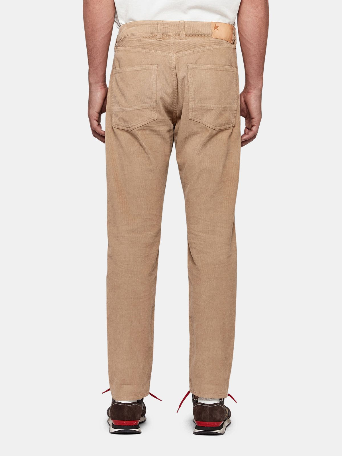 Golden Goose - Up five pocket trousers in corduroy velvet with a relaxed fit in