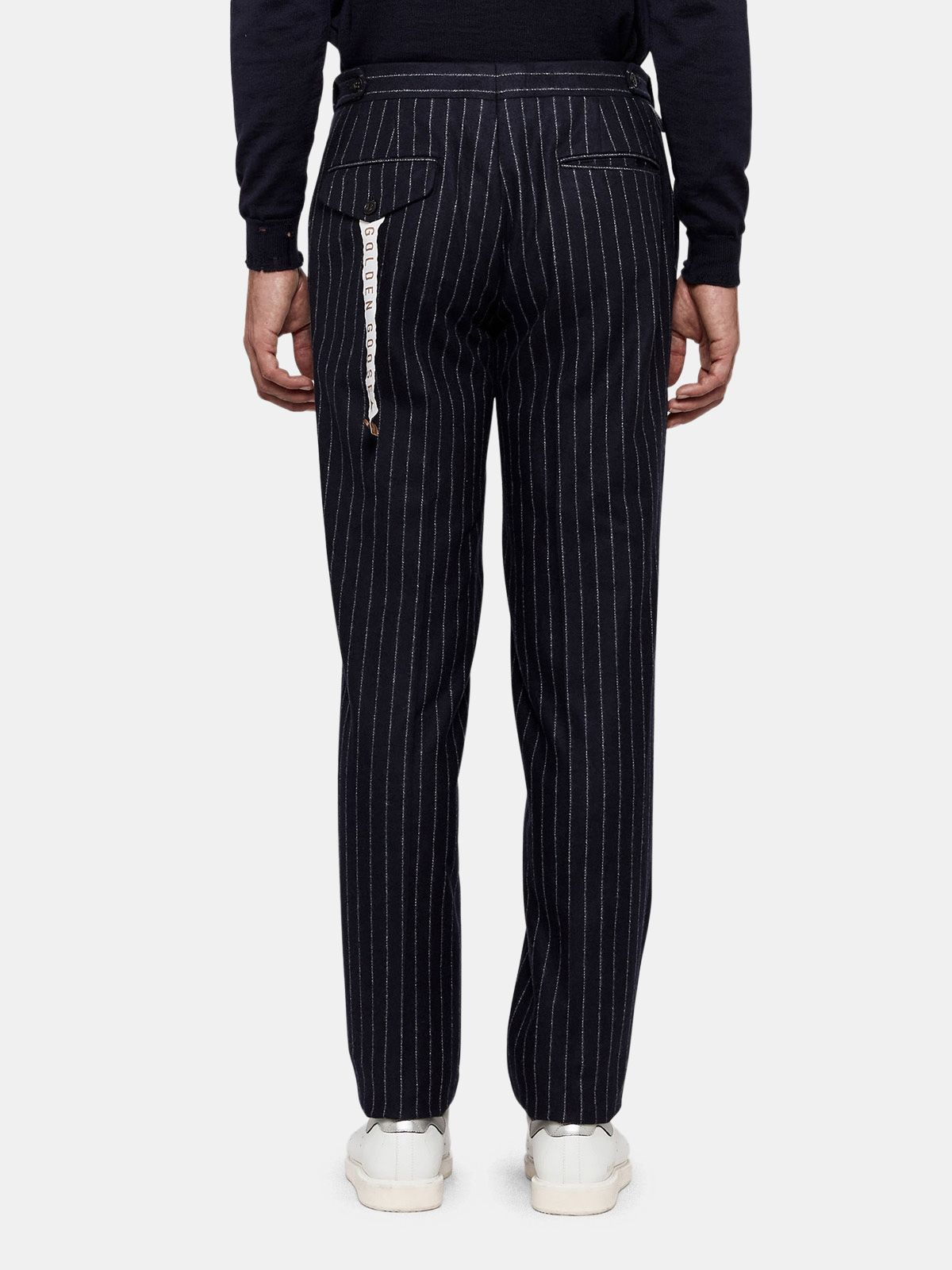 Golden Goose - Seiji trousers in wool with adjustable waist in