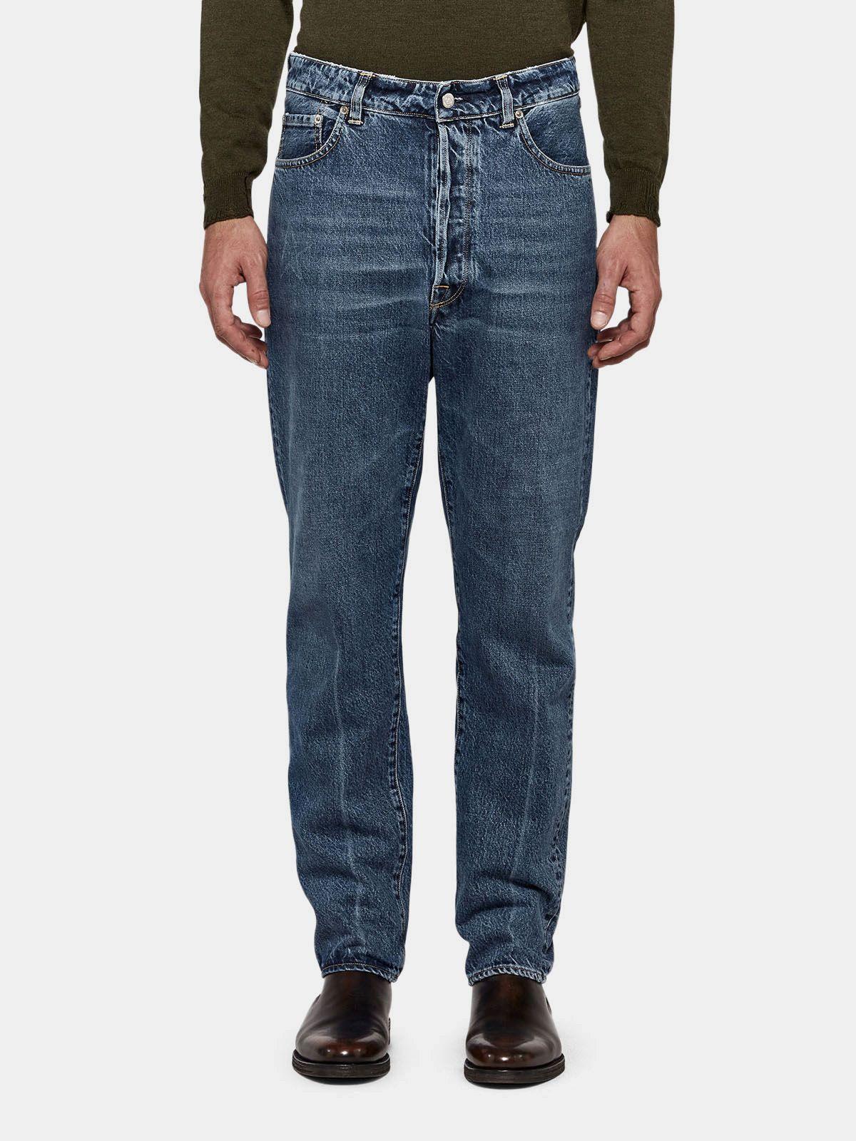 Golden Goose - Jeans Happy slim fit in denim di cotone in