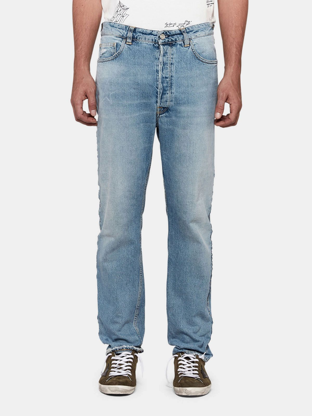 Golden Goose - Happy slim fit jeans with decorative studs in