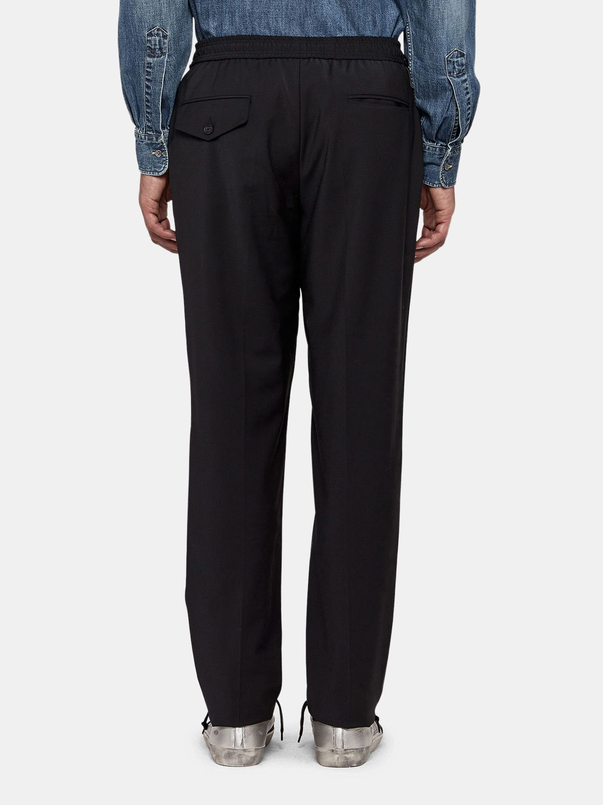 Golden Goose - Ryuu trousers in technical fabric with elasticated waist in