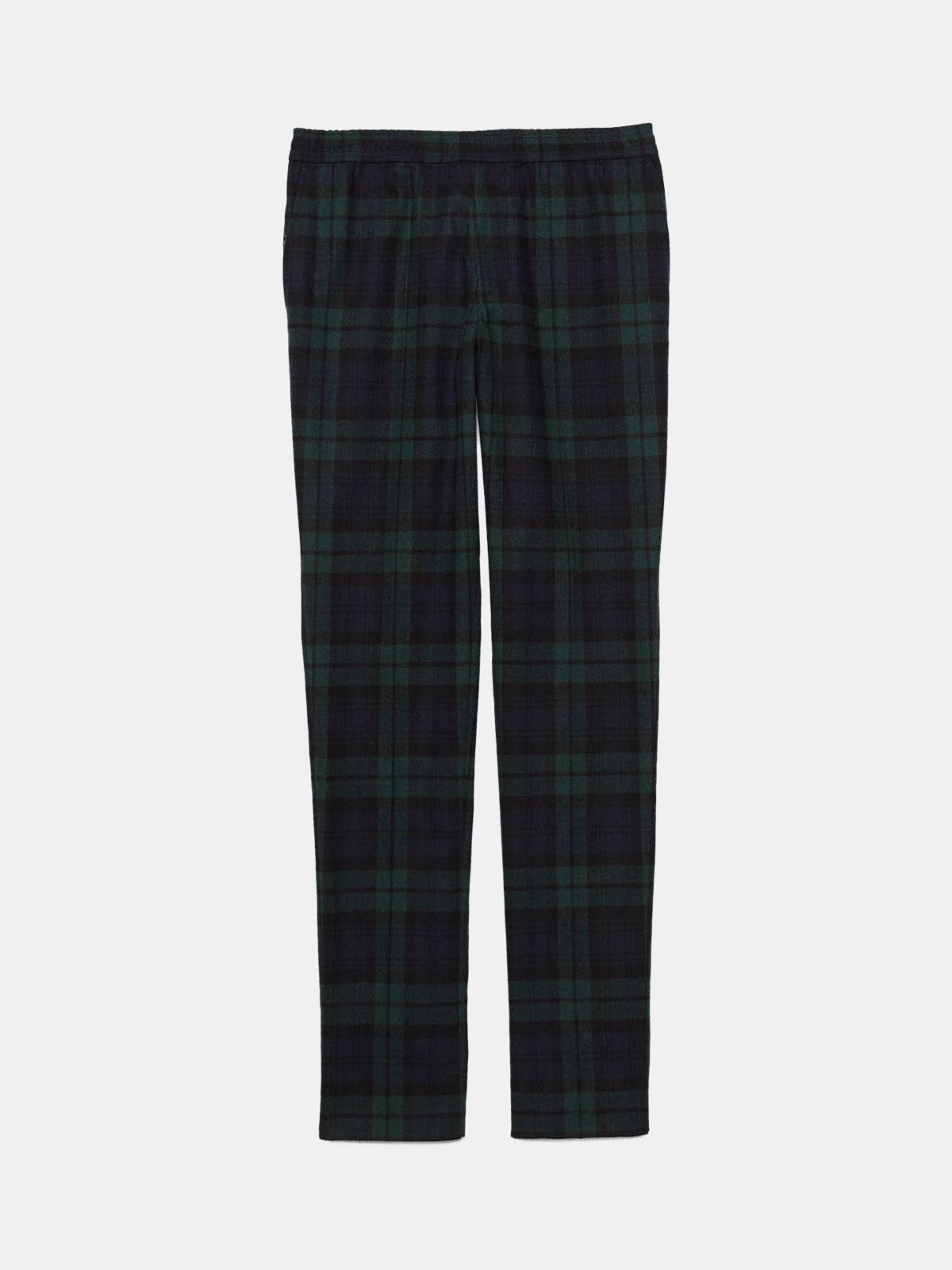 Golden Goose - Ryuu trousers in tartan with elasticated waist in