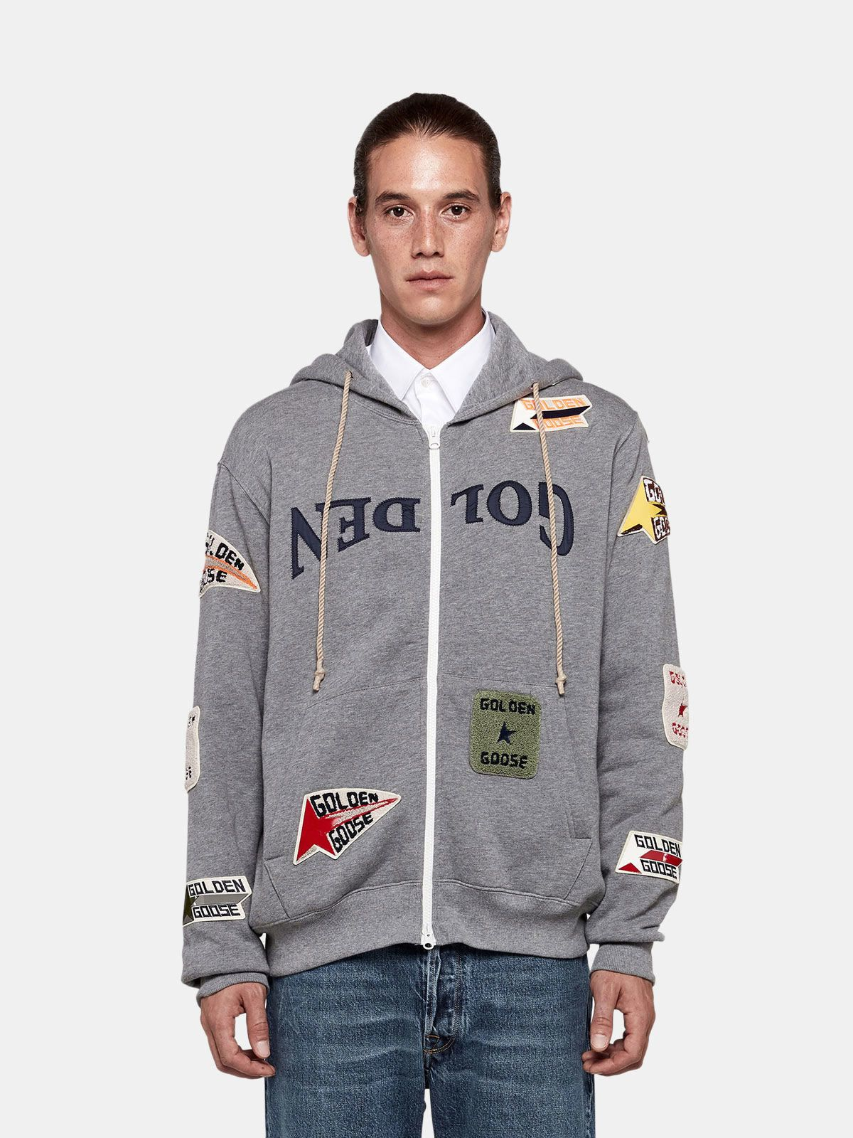 Golden Goose - Katashi hoodie with decorative patches in