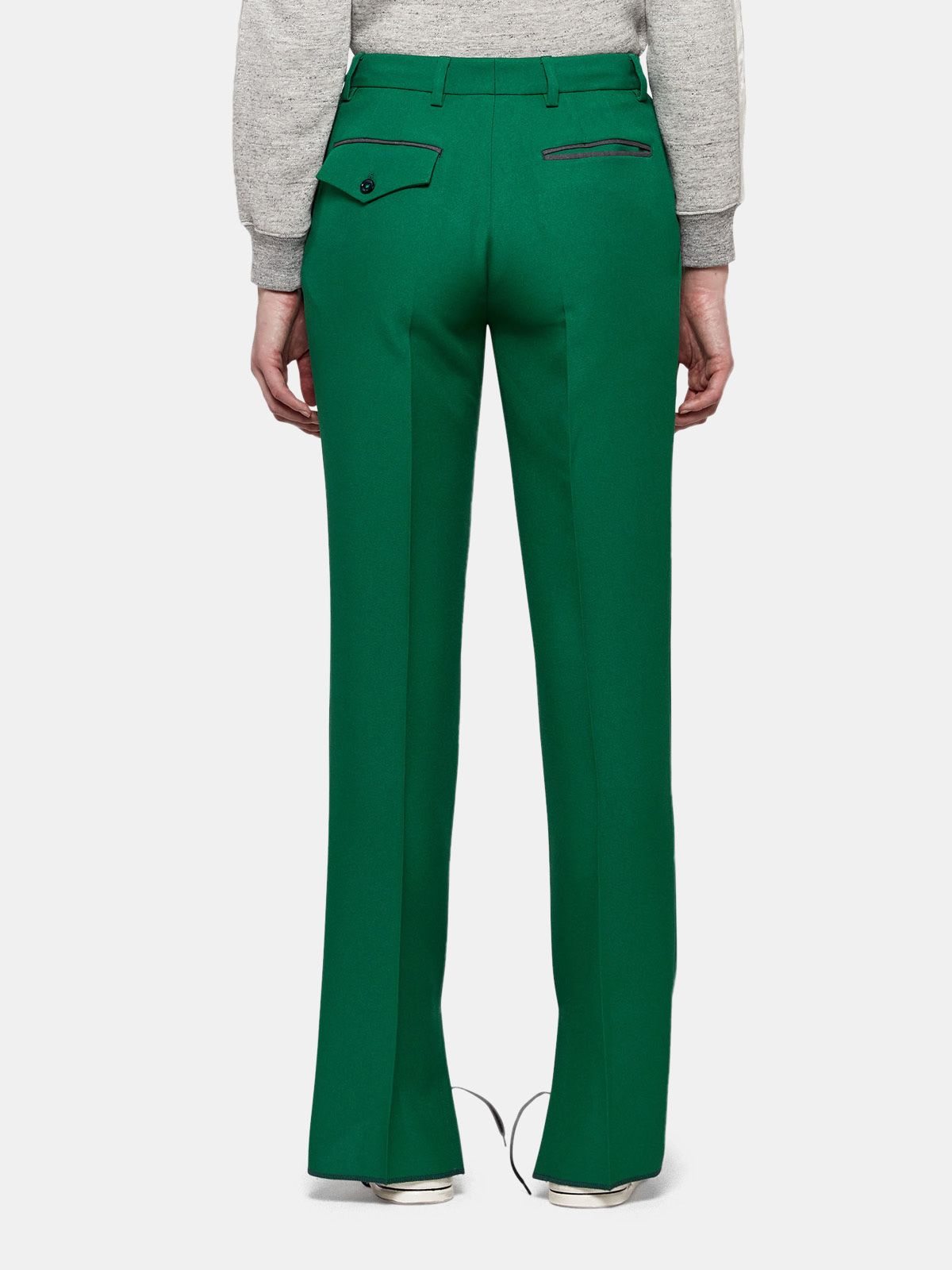 Golden Goose - Venice trousers in a technical fabric with adjustable length in