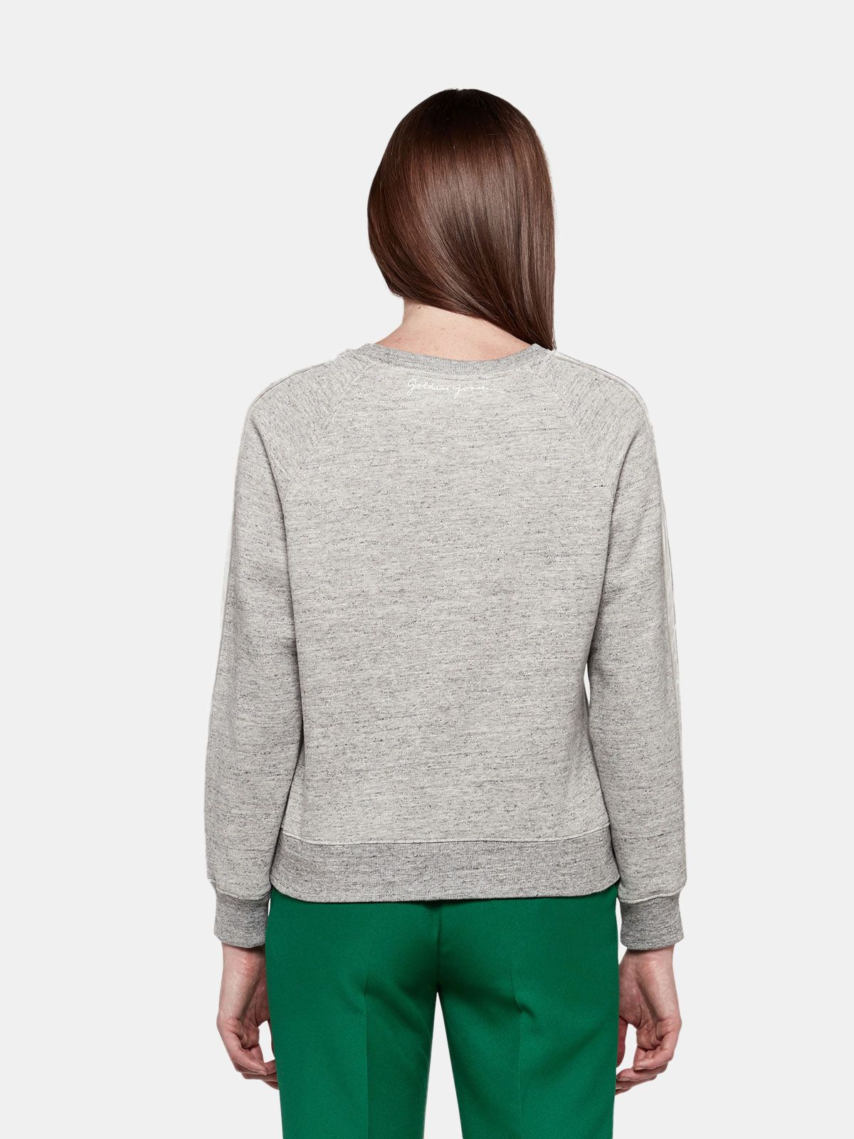 Golden Goose - Haruko sweatshirt in pure cotton with contrasting inserts in